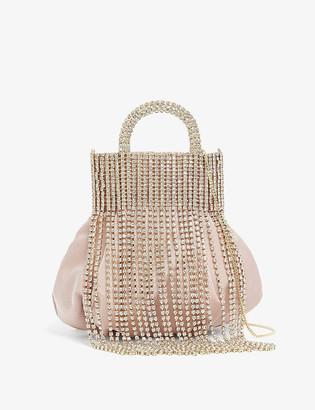 Rosantica Follie crystal-embellished silk cross-body bag