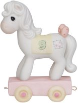 """Precious Moments 142029 Birthday Gifts, """"Being Nine Is Just Divine"""", Birthday Train Age 9, Bisque Porcelain Figurine"""
