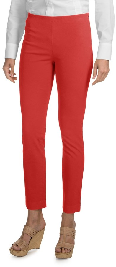 Paperwhite Garment-Dyed Ankle Pants (For Women)