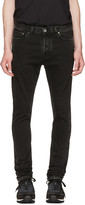 Valentino Black Marble Wash Skinny Jeans