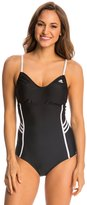 adidas Women's 3Stripe Solid Adjustable One Piece Swimsuit - 8142102