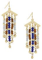 Jessica Simpson Home Grown Fashion Beaded Drop Earrings