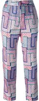 MSGM geometric print trousers - women - Silk/Polyester - 42