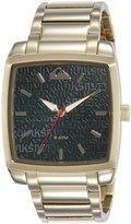 Quiksilver Men's QS/1009BKGP THE QUAD Gold-Tone Bracelet Watch