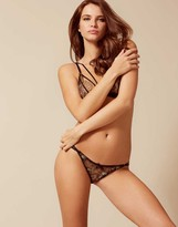 Agent Provocateur Castalia Thong Black Green and Gold