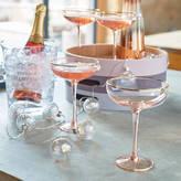 Ella James Set Of Two Blush Rose Martini Glasses