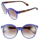 Fendi Women's 54Mm Retro Sunglasses - Opal Blue/ Havana