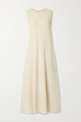 LAUREN MANOOGIAN Shell Pima Cotton-blend Dress - Cream