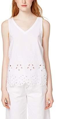 Esprit edc by Women's 058cc1k092 Vest, (White 100), X-Large