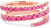 Anita Ko Coil 18-karat Rose Gold Ruby Pinky Ring - 4