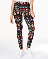 Planet Gold Juniors' Super-Soft Holiday-Print Leggings