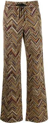 M Missoni chevron pattern wide-leg trousers