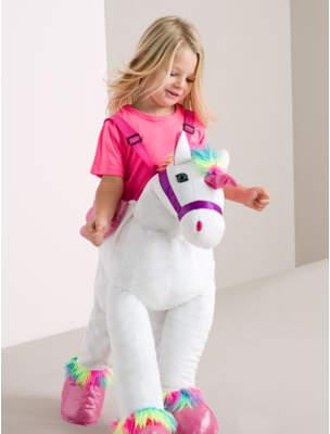 George Unicorn Ride in Fancy Dress Costume