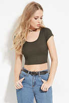 Forever 21 FOREVER 21+ Ribbed Stripe Crop Top