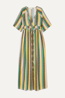 Eywasouls Malibu Liliane Striped Cotton-voile Maxi Dress