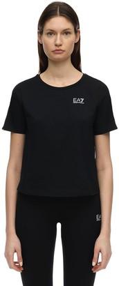 EA7 Emporio Armani Train Cotton Jersey T-Shirt