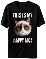 T-Line Grumpy Cat This is My Happy Face Adult T-Shirt-xxxl