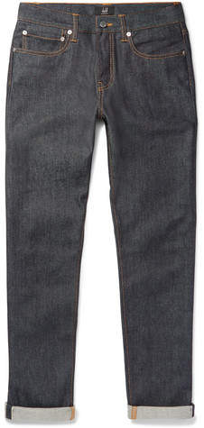 Dunhill Slim-Fit Selvedge Stretch-Denim Jeans
