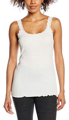 Cream Women's Silky Top Tank,(Size of : L)