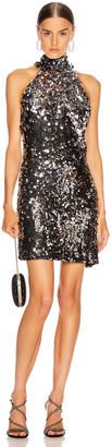 Galvan Gemma Mini Dress in Silver | FWRD