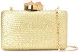 Kayu basket weave clutch bag - women - Straw - One Size