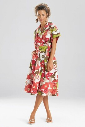 Natori Anemone Garden Shirt Dress