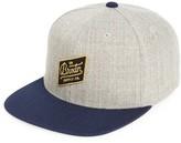 Brixton Men's Bedford Snapback Baseball Cap - Grey