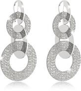 Rebecca R-Zero Rhodium Over Bronze Dangle Earrings