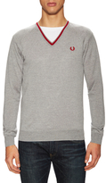 Fred Perry Single Tipped Merino V-Neck Sweater