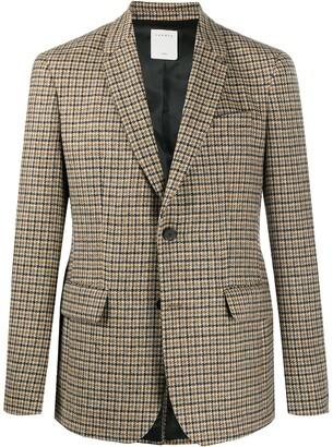 Sandro Paris Houndstooth Check Wool Blazer