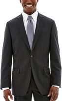 Claiborne Black Solid Stretch Suit Jacket - Classic Fit