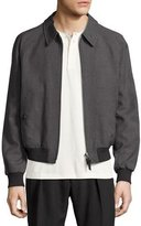 Tom Ford Zip-Front Wool Bomber Jacket, Gray