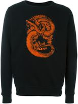 Marcelo Burlon County of Milan snake embroidered sweatshirt - men - Cotton - XXS