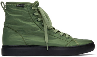 Paul Smith Green Dreyfuss High-Top Sneakers