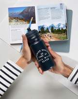 Jack Wills Plastic Logo Water Bottle In Black