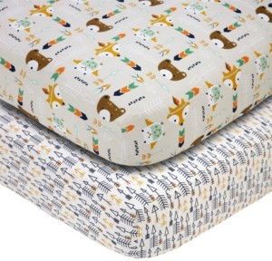 NoJo Aztec Animals Crib Sheet 2-Pack Bedding