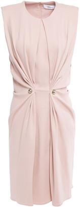 Carven Gathered Studded Stretch-crepe Mini Dress