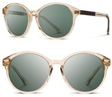 Shwood Women's 'Bailey' 53Mm Polarized Sunglasses - Champagne/ Ebony/ G15 Polar