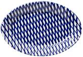 Vietri Net & Stripe Net Small Oval Platter