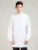 Stampd White L/S Elongated Button Down Shirt