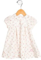 Christian Dior Girls' Floral Print Pleated Dress