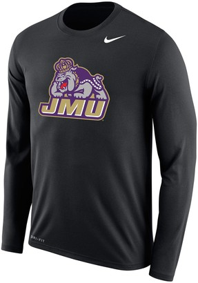 Nike Men's Black James Madison Dukes Legend Long Sleeve Performance T-Shirt