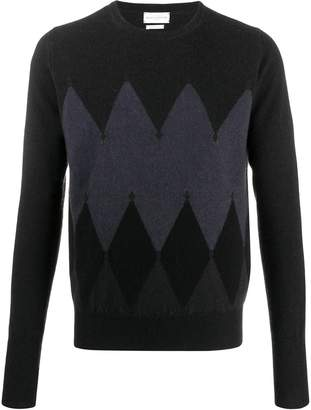 Ballantyne argyle pattern sweater
