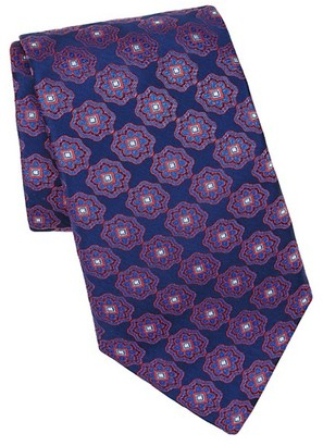 Canali Bohemian Print Silk Tie