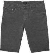 DSTLD Skinny-Slim Shorts in Charcoal