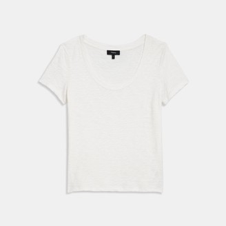 Theory Open Neck Tee in Organic Cotton
