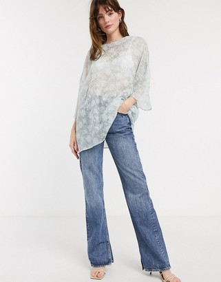 Glamorous oversized top in floral organza