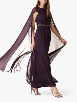 Phase Eight Samira Cape Dress, Amethyst