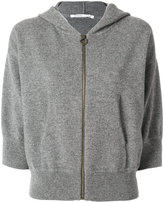 Agnona zipped hoodie - women - Cashmere/Wool - S