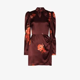 Reformation Livie floral print silk mini dress